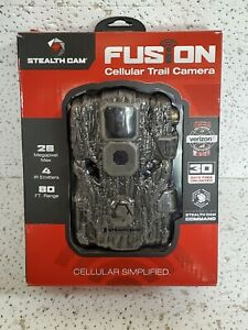 STEALTH CAM - FUSION CELLULAR TRAIL CAMERA Verizon 26MP 4 IR EMITTERS 80' RANGE