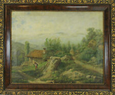 E4-038. PAYSAGE. HUILE SUR TOILE. CATALAN ÉCOLE. CENTURY XIX-XX.