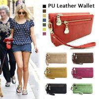 1Pc Women Wallet Wristlet Lady Card Coin Holder Long Wallet Clutch Zipper Purse
