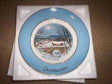 Avon Dashing Through The Snow Christmas Plate 1979 In Original Box