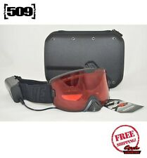 509 Kingpin Ignite Snowmobile Goggle Heated Black With Rose Tinted Lens New