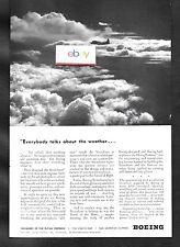 BOEING AIRCRAFT CO 1943 EVERYBODY TALKS ABOUT THE WEATHER BOEING STRATOLINER AD