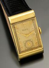 VINTAGE ELGIN GOLD WATCH 14K YELLOW GOLD RECTANGULAR, 21 JEWEL MANUAL WIND