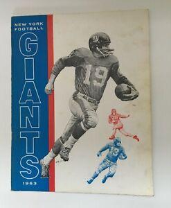 New York Giants CFL American Football Yearbook 1963