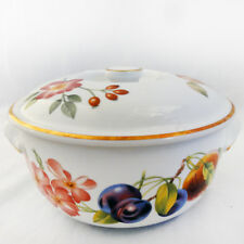 """PERSHORE by Royal Worcester Covered Casserole Round 7"""" NEW NEVER USED England"""