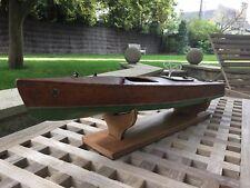 BATEAU DE BASSIN BATEAU JOUET CANOT AUTOMOBILE POND BOAT JOUET ANCIEN