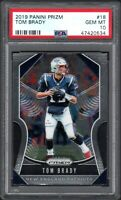 2019 Panini Prizm #19 TOM BRADY Patriots PSA 10 Gem Mint