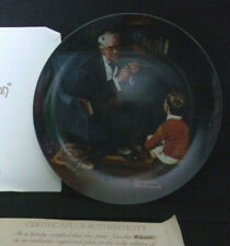 "Vintage Iob ""The Tycoon"" Collector Plate #F16250 The Bradford Exchange Coa"