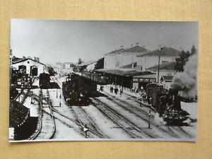 179 Pressefoto BBÖ-BAHNHOF mit vielen Loks um 1920