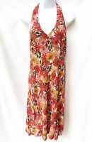 ANN TAYLOR LOFT Petites Womens Floral Pink Halter Summer Dress 6P