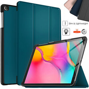 """Leather Slim Folio Stand Flip Smart Case For Samsung Tablet A 10.1"""" (2019) T510"""
