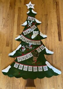 Pottery Barn Kids Woodland Tree Advent Calendar Christmas Count Down 60 Inches