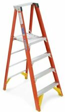 Werner P6204 4' Series Fiberglass Platform Ladder 300lb Rated
