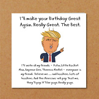 Donald Trump Birthday Card Make America Great Again funny humorous amusing USA