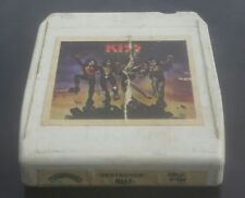 Kiss 8-track tape Destroyer album Gene Simmons, Ace Frehley white ANTIQUE