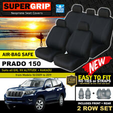 SuperGrip Neoprene Seat Covers for Toyota Prado 150 GXL VX Kakadu 2ROW's 2009-20