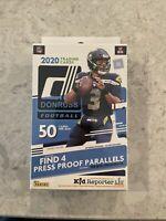 2020 DONRUSS Football Hanger Box- New Sealed- 50 cards - Herbert, Burrow, Tua RC