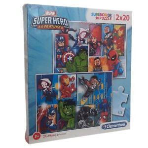 Clementoni Super Hero Adventures Puzzle 2 Puzzles mit 20 Teilen