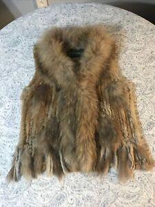 Vintage Overland Fur vest small medium