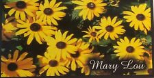 CHECKBOOK COVER PERSONALIZED YELLOW BLACKEYED SUSANS