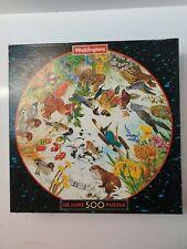 Waddingtons  Four Seasons Wildlife Birds 500 Piece | Vintage Circular Jigsaw