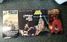 VHS tape lot of 4 Star Wars Battle of the Bulge Children of a Lesser God Mathis