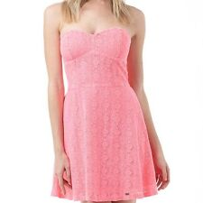 SUPERDRY WOMENS LACE DRESS - BRIGHT PINK - PROM DRESS - MEDIUM (SIZE 12) - BNWT