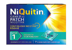 NiQuitin 21mg Clear 24 Hour Patches , Step1, 1 Week Supply,7 Patches