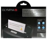 OLYMPIA Ölpapier für Aktenvernichter zum Reinigen ,Schmieren des Schneidwerkes