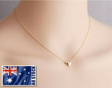 Brand New 18K Rose Gold Plated GP Simply Cute Heart Necklace