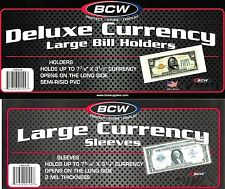 1000 Large Dollar Bill Sleeves Holders Blanket Size BCW Supplies