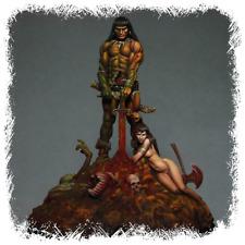 Kabuki Studio Conan the Barbarian Unpainted 75mm Figure kit