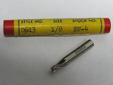 "DOALL QUINCO 1/8"" x 3/16"" Shank 4 Flutes Non Center Cut End Mill endmill USA"