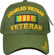 Disabled Vietnam Veteran Ribbon Sandwich Bill Mens Quality Military Service Cap