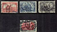 1905- Germany  Deutsches Reich Scenes Complete Set of 4 Sc#92-5 Great Postmarks