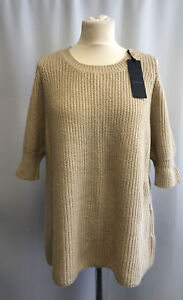 Zoe Jordan Cashmere Knit Beige Jumper Size M/L UK 12-14 RRP £160