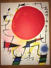 Joan Miró, Original Lithograph III. 1972  Mourlot Paris