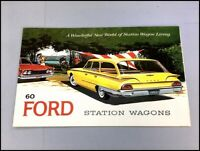 1960 Ford Country Squire Ranch Station Wagon Vintage Car Sales Brochure Catalog