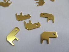 100 Stück - Steckzungen 4,8x0,8mm - Print-Flachstecker vergoldet - VOGT 3827B08