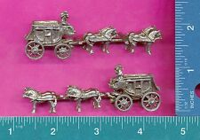 3 wholesale lead free pewter stagecoach horses figurines H8044
