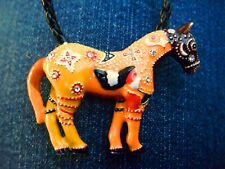 "Trail of Painted Ponies Pendant-Ghost Horse-Spiritual Memorial to West-2"" wide"