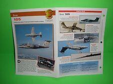 SAAB 105 AIRCRAFT FACTS CARD AIRPLANE BOOK 61