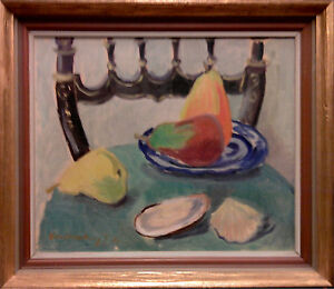STILL LIFE WITH PEARS and OYSTER