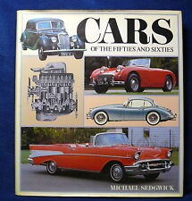 Cars of the Fifties and Sixties by Michael Sedgwick (Hardback 1983) Book Vintage