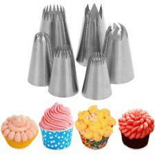 6Pcs Cake Cookie Decorating Piping Frosting Nozzles Cream Sizing Tip DIY Baking