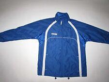 CCM Hockey Men's Windbreaker Jacket Medium Long Sleeves Blue White Light Weight