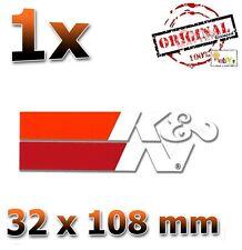 K&N Weiß White Blanc 32x108mm Aufkleber, Sticker, Autocollant, Étiquette K und N