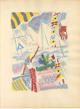 UZELAC 1932 THE JOY OF SPORT VIRGINIE HERIOT LE YACHTING PL-16