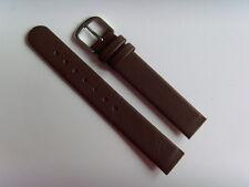 Watch Strap Leather brown 14 mm slide strap fastening screws SKAGEN BERING brown