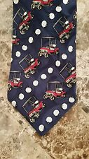 Barry Wells Head for the 19th Hole Golf Carts Imported Silk Tie Necktie USA